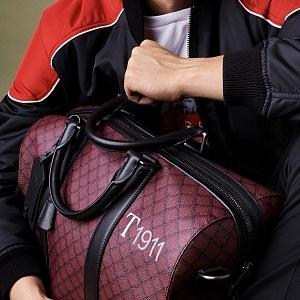 Luxusní kožená bordó taška