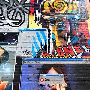 The streets of London are interwoven with legal graffiti.