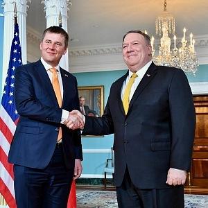 Tomáš Petříček a ministr zahraničí USA Mike Pompeo