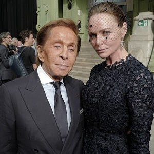 Valentino Garavani and Stella McCartney