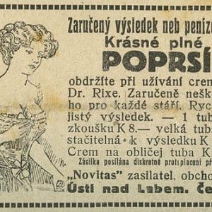 Vídenské ilustrované noviny 1919, reklama