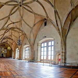 Vladislavský sál před rekonstrukcí.