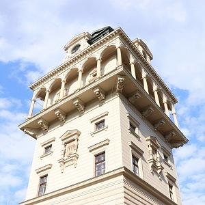 Zrekonstruovaná vodárenská věž