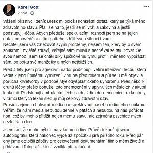 Vyjádření Karla Gotta