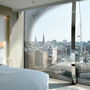 Jeden z pokojů hotelu Elbphilharmonie Deluxe