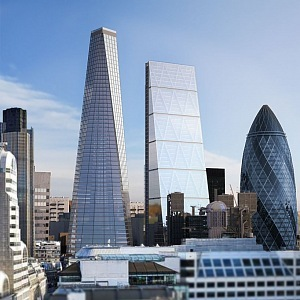 Historical London is beginning to be overbuilt by skyscrapers