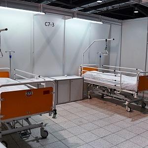 Záložní nemocnice v Brně - lůžka